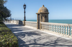 Boardwalk of Cadiz, Genoves Park, Andalucia, Spain Royalty Free Stock Image