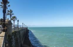 Boardwalk of Cadiz, Genoves Park, Andalucia, Spain Royalty Free Stock Image