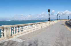 Boardwalk of Cadiz, Genoves Park, Andalusia, Spain Stock Photos
