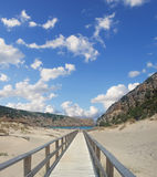 Boardwalk in Cala Domestica Royalty Free Stock Photos