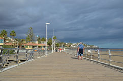 Boardwalk at the Canary Islands Stock Photo