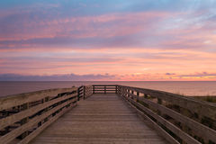 Boardwalk on Cavendish beach Royalty Free Stock Photography