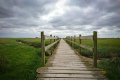 Boardwalk, Clouds, Cloudy Royalty Free Stock Images