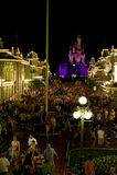 boardwalk Disney główny noc st fotografia stock
