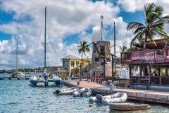 Boardwalk in downtown Christiansted. Boardwalk in downtown  Christiansted St. Croix Stock Photo
