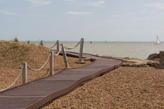 Boardwalk at Felixstowe beach. In Suffolk Royalty Free Stock Images