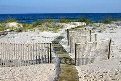 Boardwalk & Fences Royalty Free Stock Photos