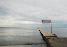 Boardwalk on Grado Beach Royalty Free Stock Photography
