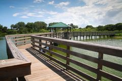 Boardwalk Green Cay Wetlands Royalty Free Stock Photos