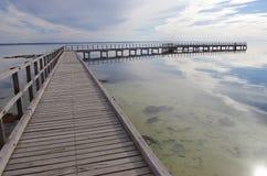 Boardwalk at Hamelin Pool, Shark Bay. In Western Australia Royalty Free Stock Image