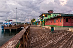Boardwalk harbor Royalty Free Stock Images