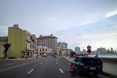 Boardwalk in Havana. LA HABANA, CUBA - JULY, 5, 2015: Boardwalk in Havana, Cuba where locals and tourist meet for a walk Stock Photo