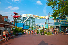 The Boardwalk at Hersheypark, PA Royalty Free Stock Images