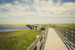 Boardwalk In Kouchibouguac National Park Royalty Free Stock Images