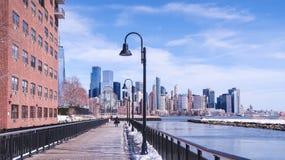 Boardwalk in Jersey City stock photo