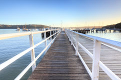 Boardwalk jetty at Balmoral Beach early morning Royalty Free Stock Photos