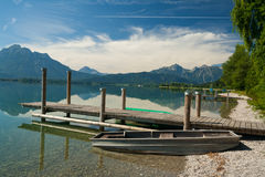Boardwalk at the Lake Forggensee Stock Photos