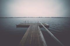 Boardwalk in the lake Royalty Free Stock Image