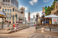 Boardwalk on Las Vegas Boulevard Stock Image