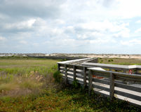 Boardwalk leading to beach Stock Photo