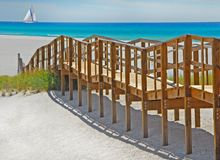 Boardwalk leading to beach Stock Photos