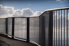 Boardwalk leading to Cape Tourville Lighthouse. Abstract view of railing and  walkway to Cape Tourville Lighthouse, Freycinet National Park, Tasmania, Australia Stock Photography