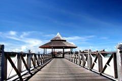 Boardwalk in  Maldives Royalty Free Stock Photography
