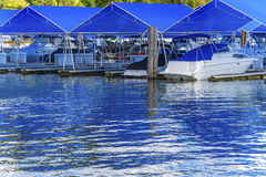 Boardwalk Marina Piers Boats Reflection Lake Coeur d`Alene Idaho Stock Image