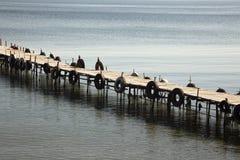 Boardwalk na błękitnym morzu Fotografia Royalty Free