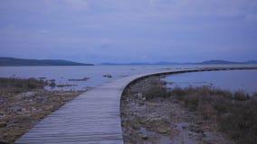 Boardwalk na morzu Zdjęcia Stock