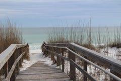 Boardwalk Nad Floryda piaska diunami Zdjęcia Stock