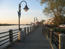 boardwalk nc wilmington Royaltyfri Bild