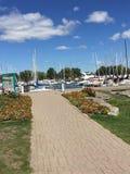Boardwalk łodzi strona Zdjęcia Stock