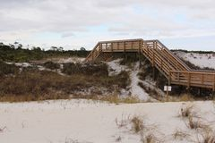 Boardwalk over dunes Stock Photos