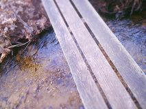 Boardwalk over river Royalty Free Stock Photography