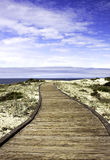 Boardwalk over sand dunes Stock Images