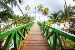 Boardwalk på stranden Fotografering för Bildbyråer
