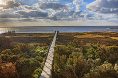 Free Boardwalk Pamlico Sound Autumn Salvo North Carolina Outer Banks Stock Photography - 80804682