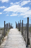 Boardwalk path to beach Stock Photos