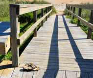 Boardwalk path to the beach Stock Photography