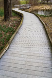 Boardwalk at the Peaks of Otter, Virginia, USA Stock Photography