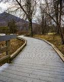 Boardwalk at the Peaks of Otter, Virginia, USA Royalty Free Stock Images