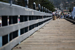 Boardwalk of the pier Royalty Free Stock Photo