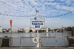 Magical day sign at Disney royalty free stock images