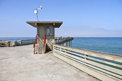 Boardwalk pier oceanview Point Loma California. Stock Image