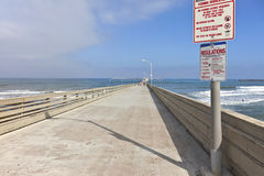 The boardwalk Point Loma San Diego California. Stock Image