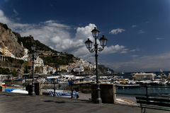 Boardwalk in Positano, Italy Stock Photography