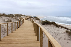 Boardwalk in Praia Barra Stock Photography