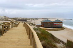 Boardwalk in Praia Barra Royalty Free Stock Photo