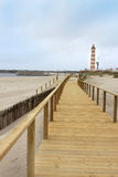 Boardwalk in Praia Barra Stock Photo